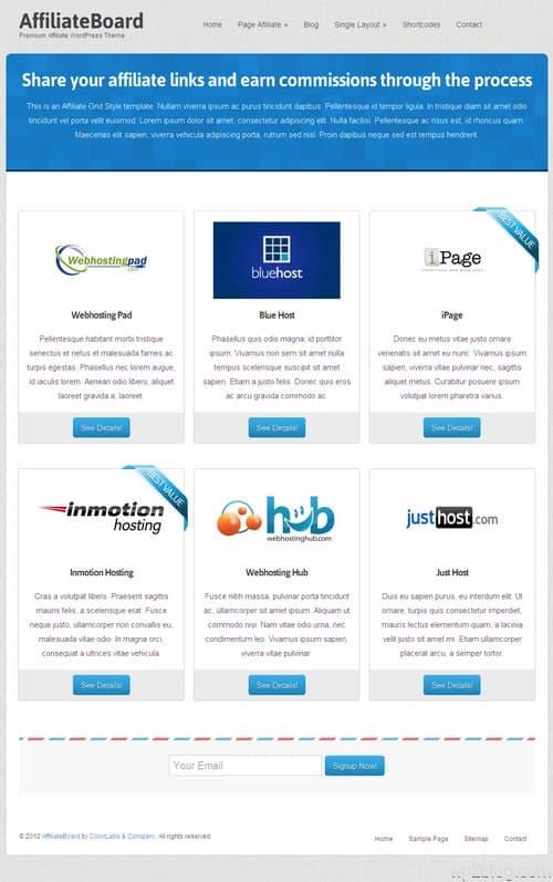 AffiliateBoard WordPres Theme
