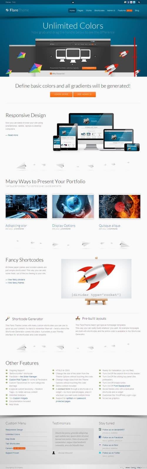 Flare WordPress Theme