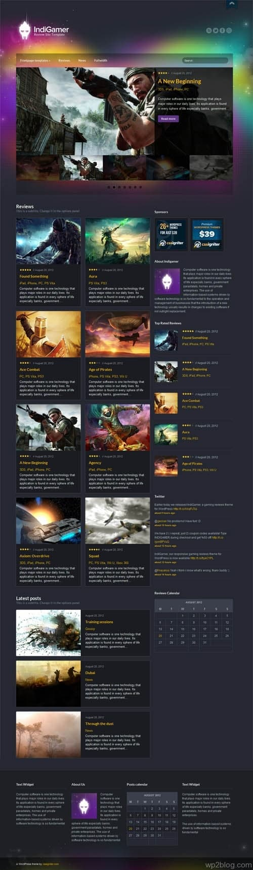 indi-gamer wordpress theme