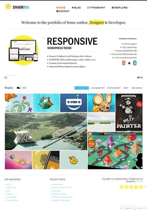 Dhamma WordPress Theme