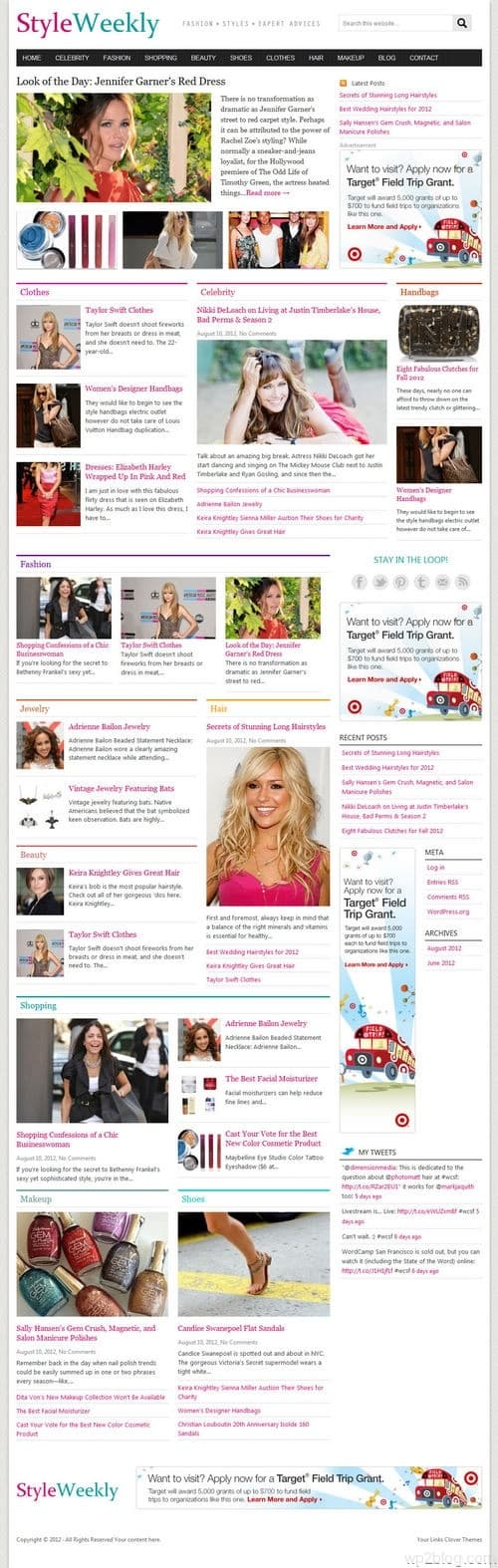 StyleWeekly WordPress Theme