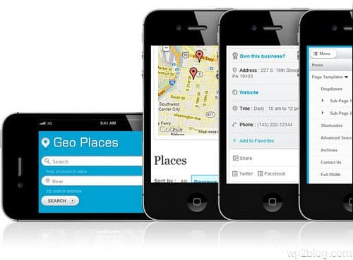 Geo Places Theme Responsive Layout