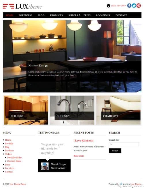 Lux WordPress Theme