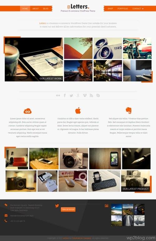 Letters WordPress Theme