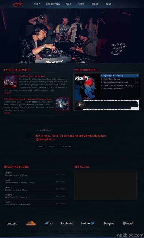 Night Music WordPress Theme