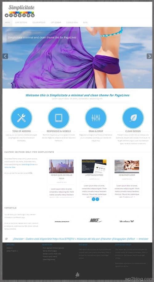 Simplicitate WordPress Theme