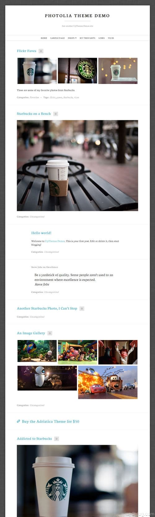 Photolia WordPress Theme