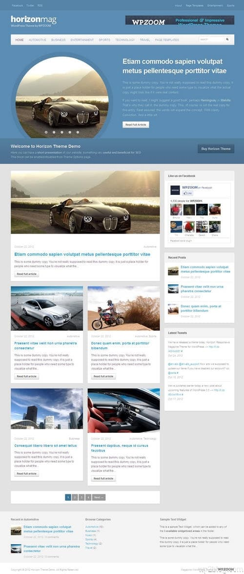 Horizon WordPress Theme
