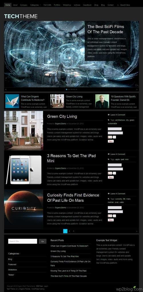 Tech V2.0 WordPress Theme