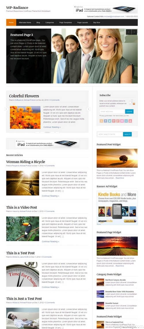 WP-Radiance WordPress Theme