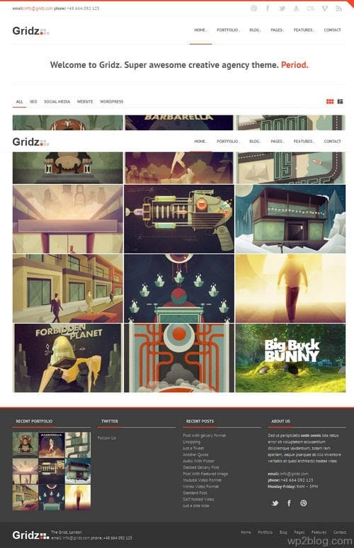 Gridz WordPress Theme