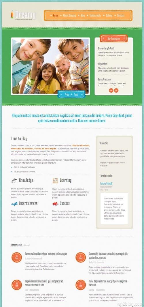 Dreamy WordPress Theme