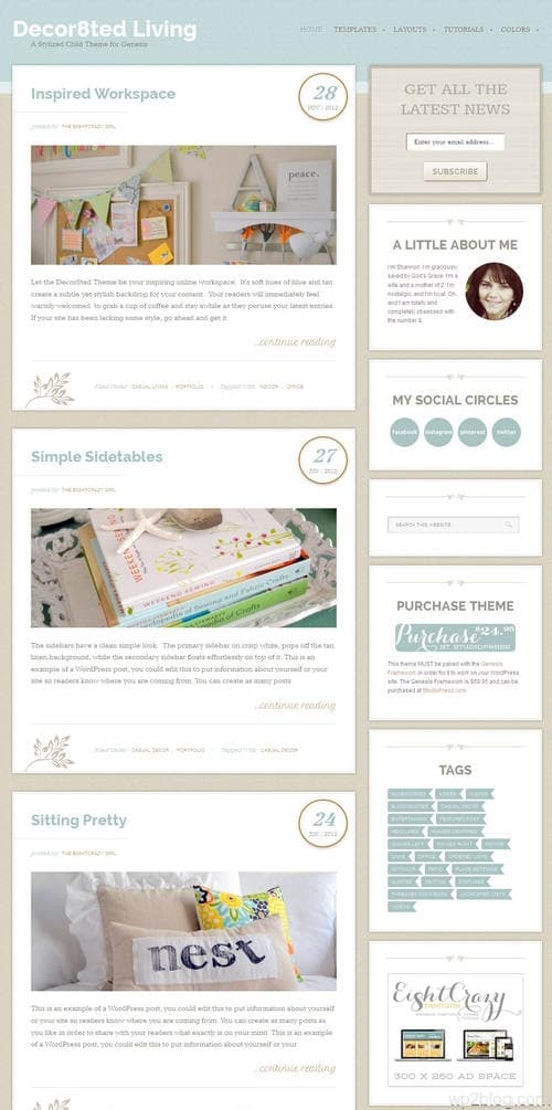 Decor8ted WordPress Theme