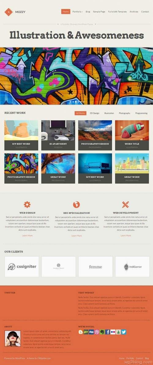 Mozzy WordPress Theme