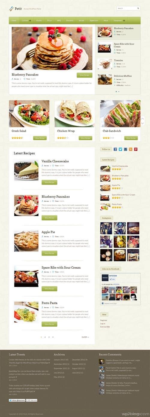 Petit WordPress Theme