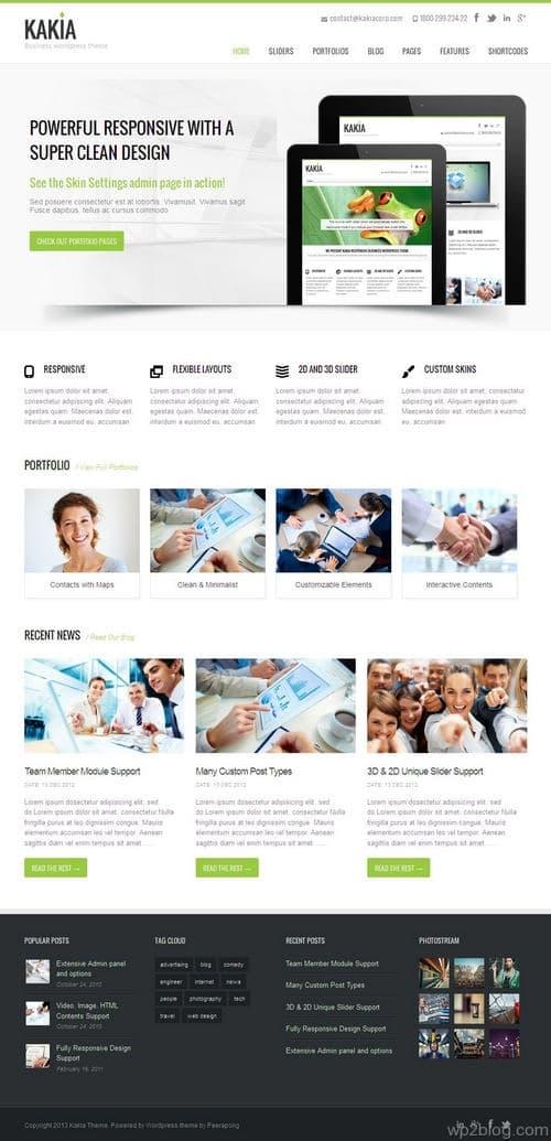 Kakia WordPress Theme