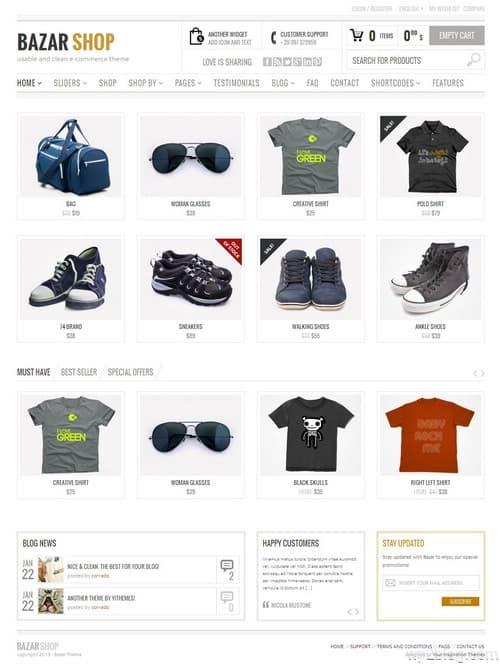 Bazar Shop WordPress Theme
