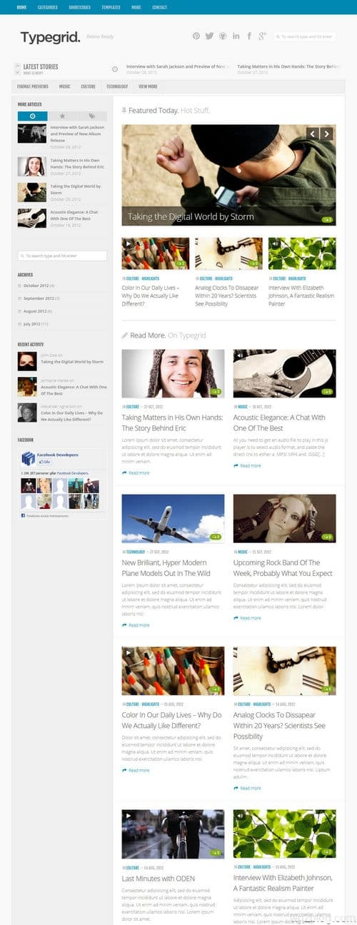 Typegrid WordPress Theme