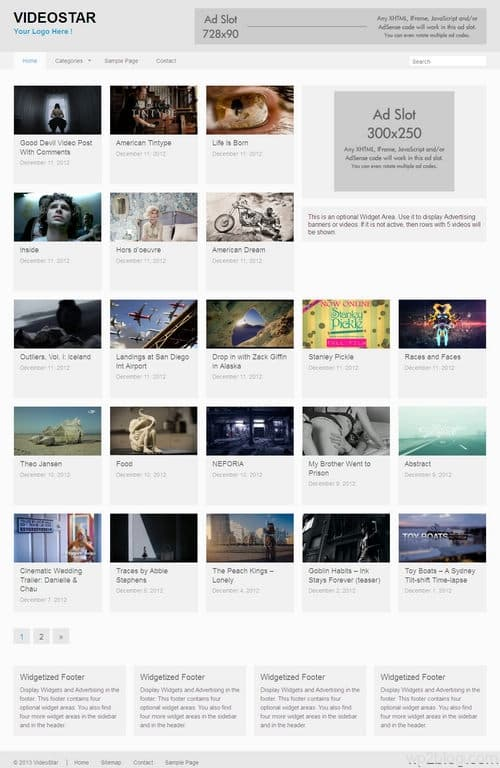 VideoStar WordPress Theme