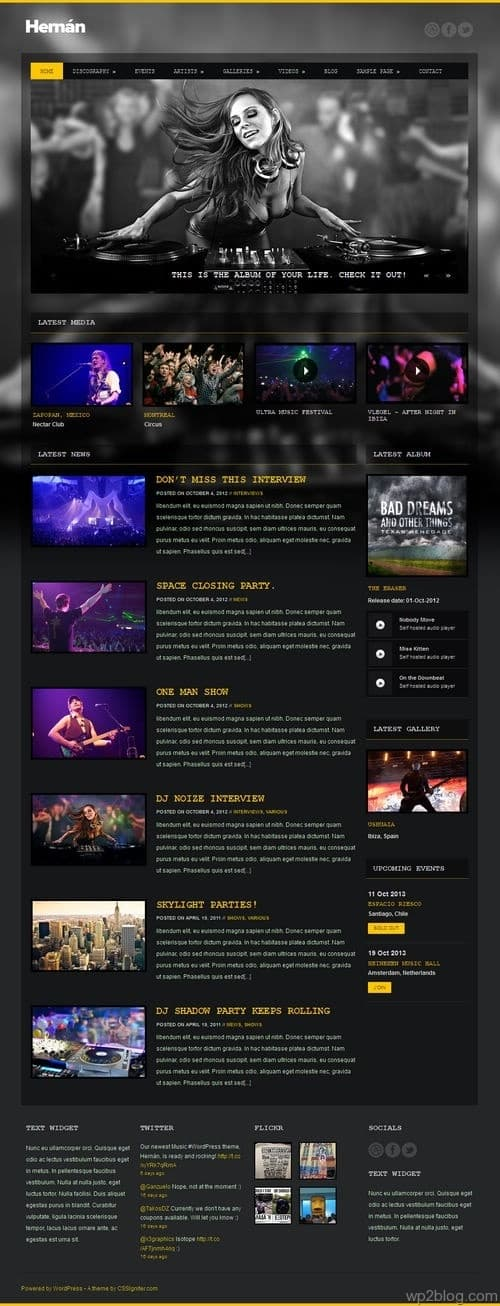 Hernán WordPress Theme
