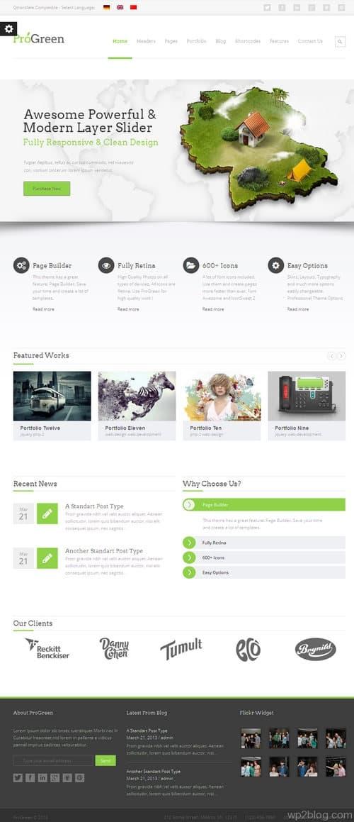ProGreen WordPress Theme