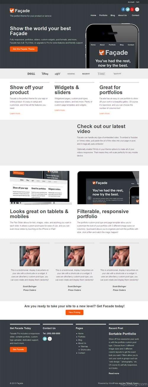 Facade Pro WordPress Theme