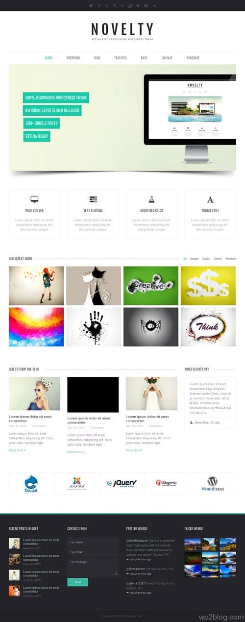 Novelty WordPress Theme