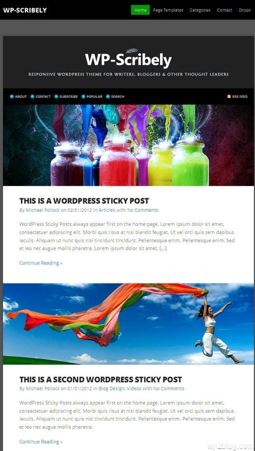 WP-Scribely WordPress Theme