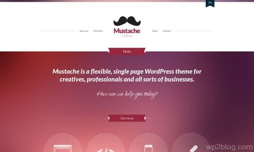 Mustache-WordPress-Theme-Collection