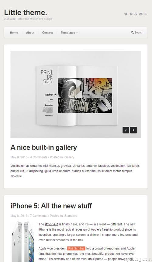 Little WordPress Theme
