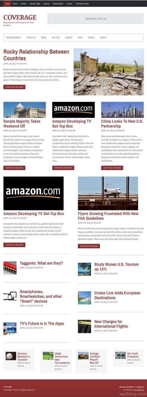 Coverage WordPress Theme