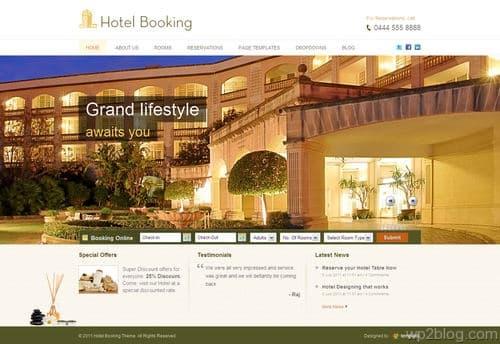HotelBooking WordPress Theme
