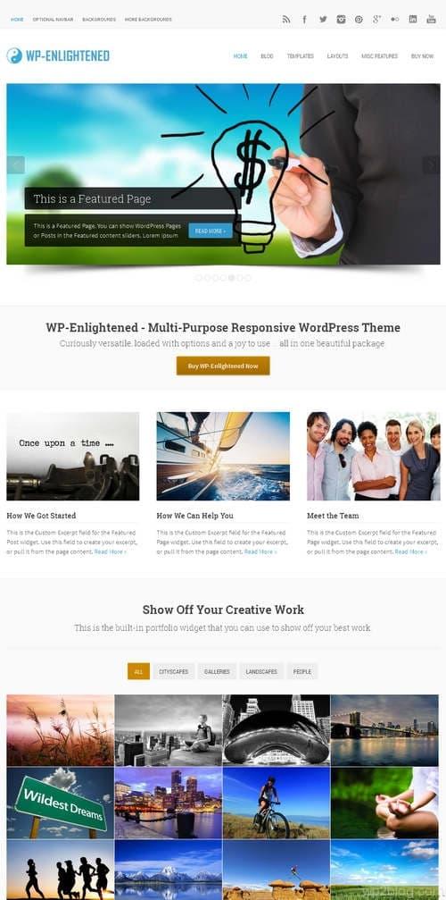 WP-Enlightened WordPress Theme