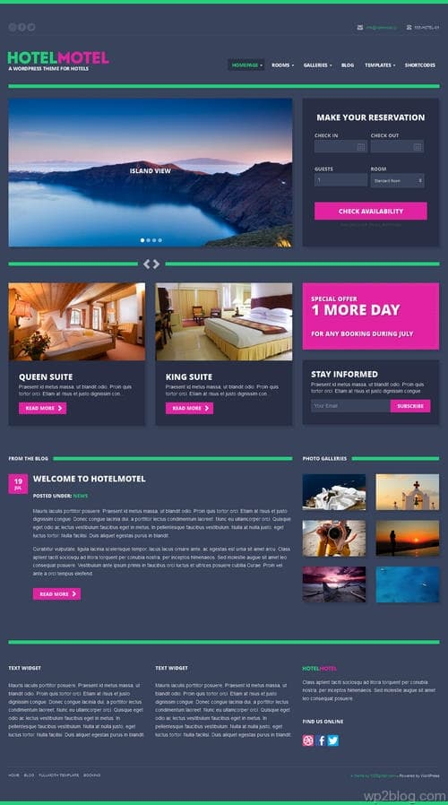 HotelMotel WordPress Theme