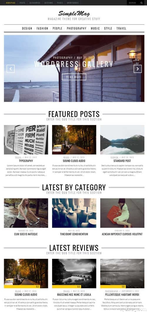 SimpleMag WordPress Theme