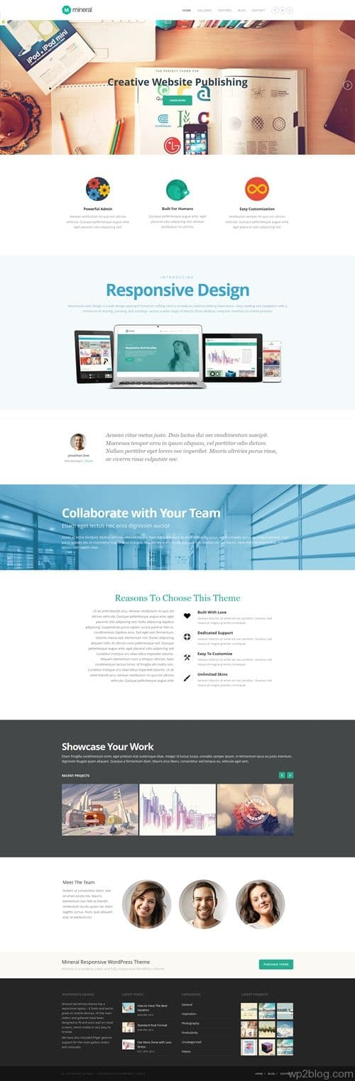 Mineral WordPress Theme