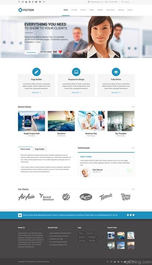 Fiction WordPress Theme