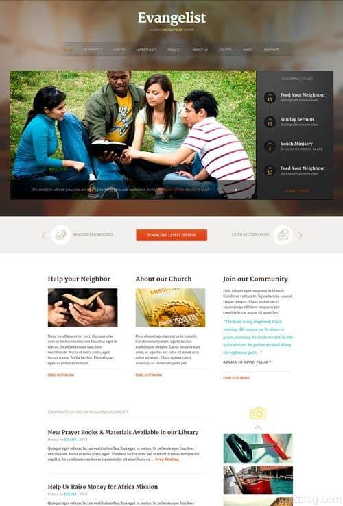 Evangelist WordPress Theme