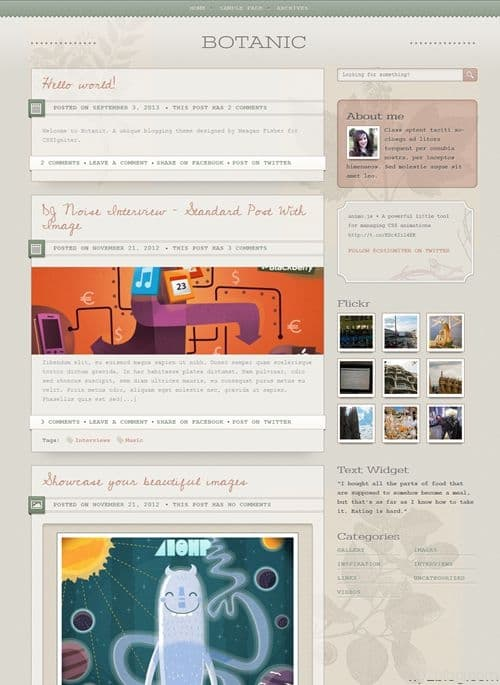 Botanic WordPress Theme