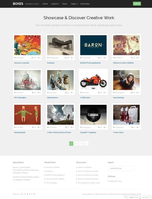 Boxes WordPress Theme