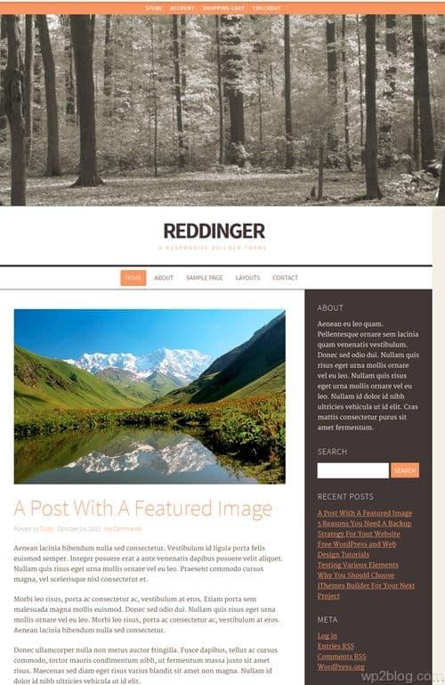Reddinger WordPress Theme