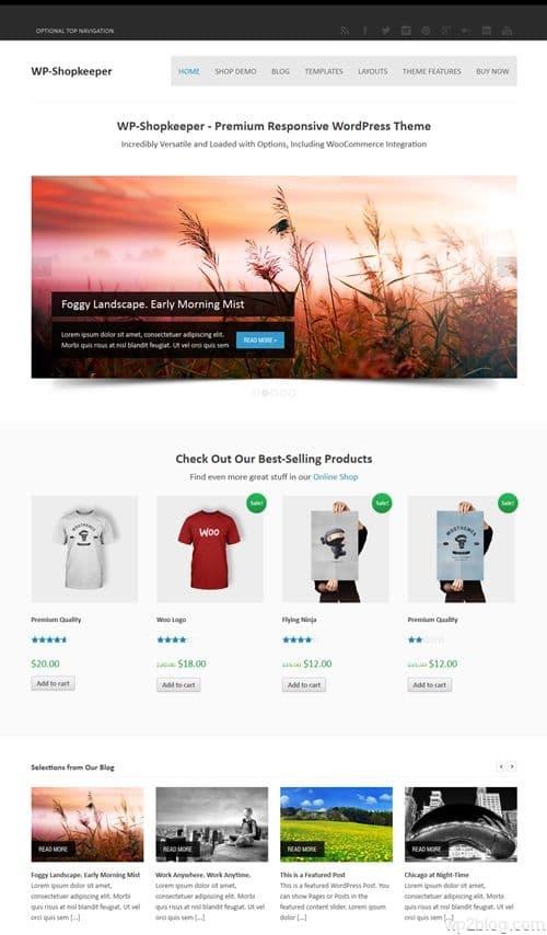 WP-Shopkeeper WordPress Theme
