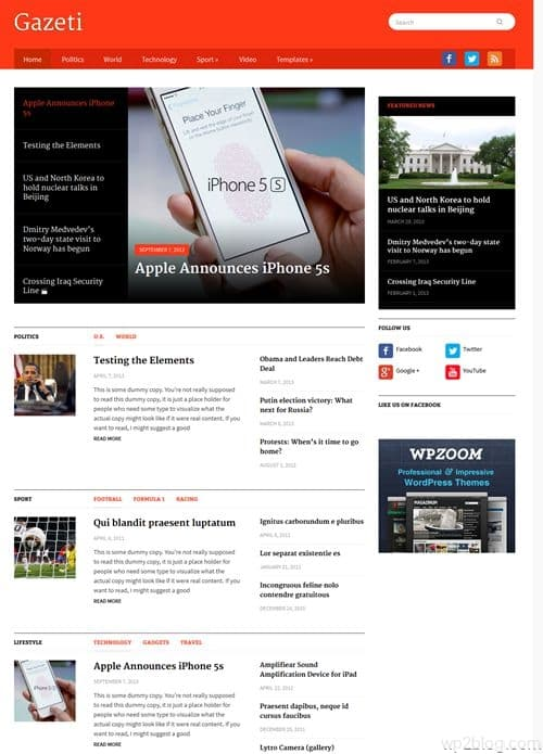 Gazeti WordPress Theme