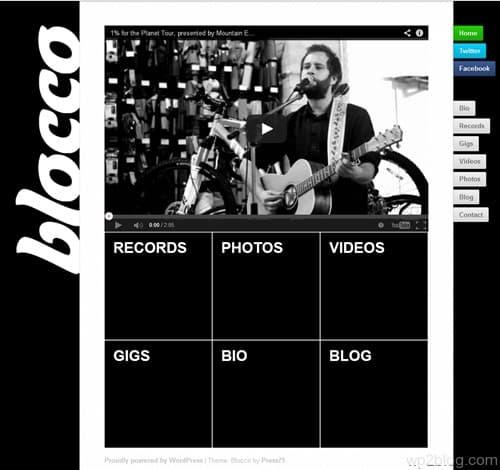 Blocco WordPress Theme