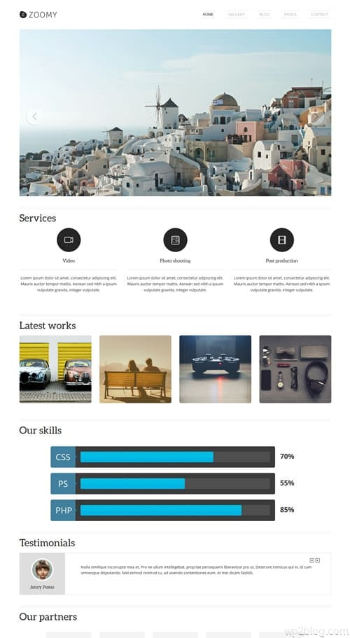 Zoomy WordPress Theme