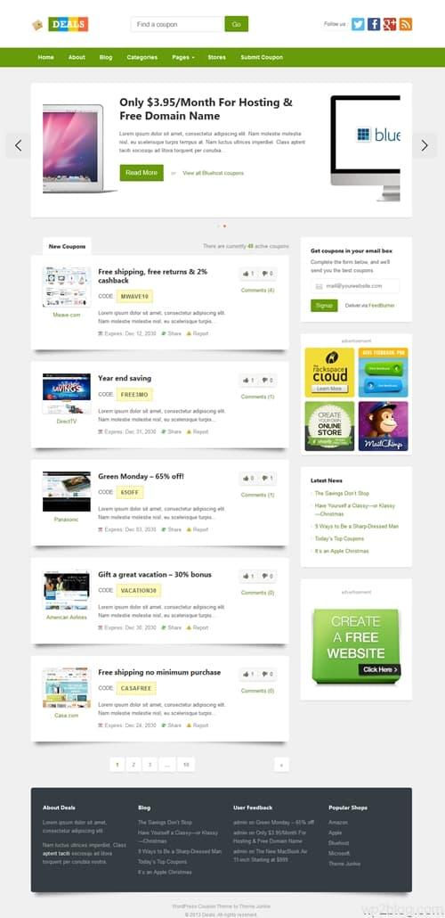 Deals WordPress Theme