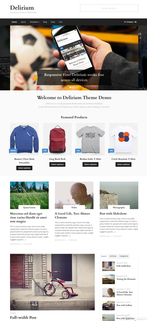 Delirium WordPress Theme