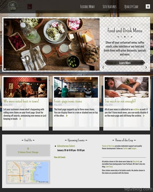 CaféCultura WordPress Theme
