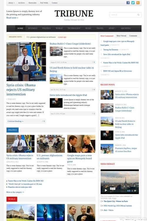 Tribune V3.0 WordPress Theme