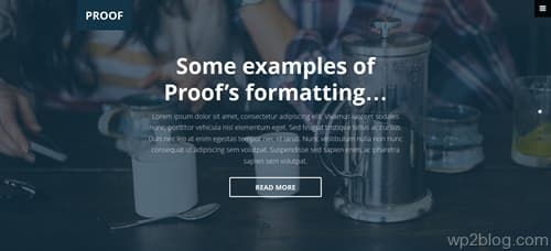 Proof WordPress Theme
